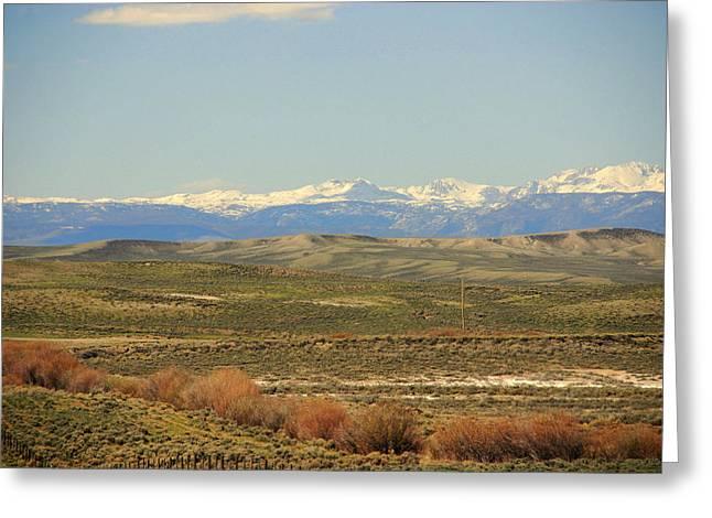 Nature Scene Greeting Cards - Beautiful Wyoming Greeting Card by Susanne Van Hulst