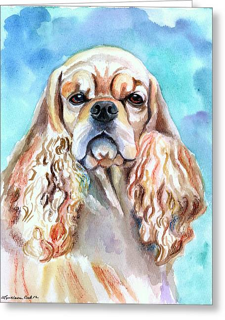 Cocker Spaniel Paintings Greeting Cards - Beauty - American Cocker Spaniel Greeting Card by Lyn Cook
