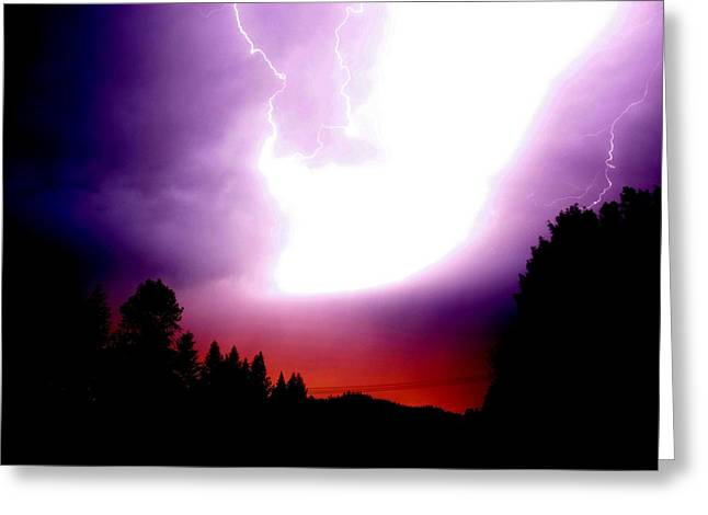 Lightning Greeting Cards - Beauty and Power Greeting Card by Don Mann