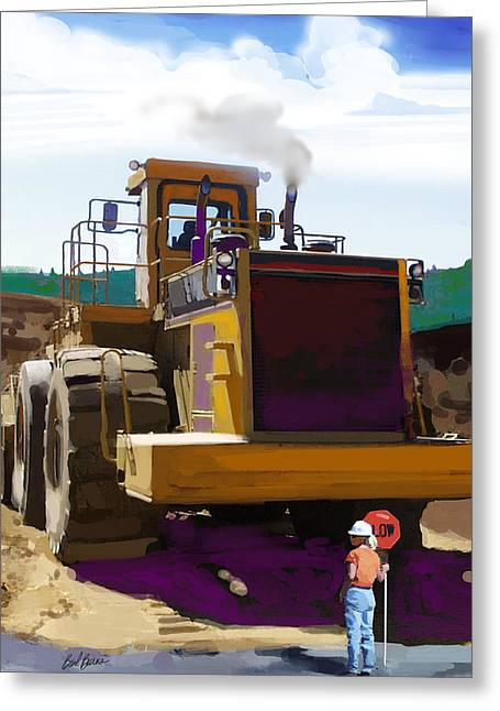 Bulldozer Greeting Cards - Beauty and the Beast Greeting Card by Brad Burns