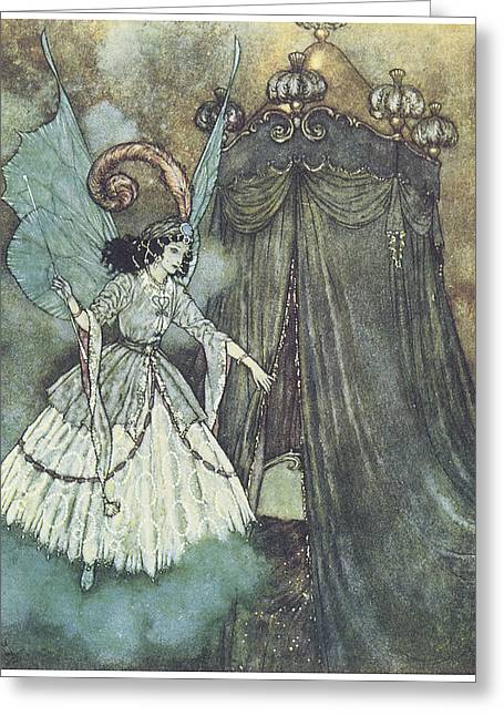 Beauty And The Beast Greeting Cards - Beauty and the Beast Greeting Card by Edmund Dulac