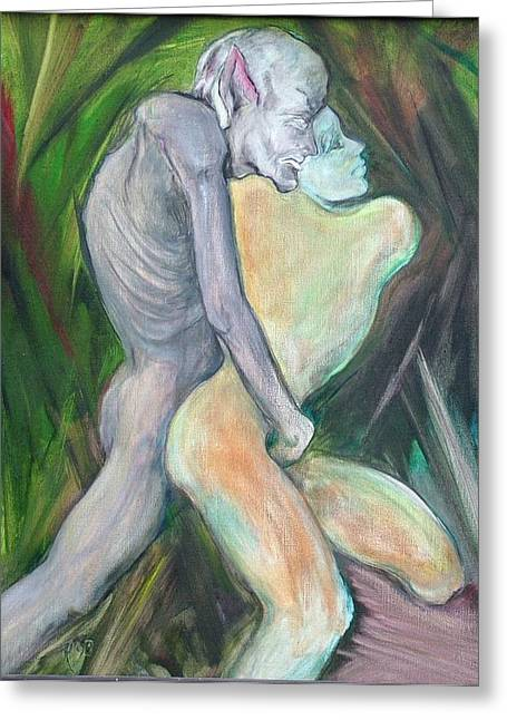Expressive Sculptures Greeting Cards - Beauty and the Beast Greeting Card by Michele D B