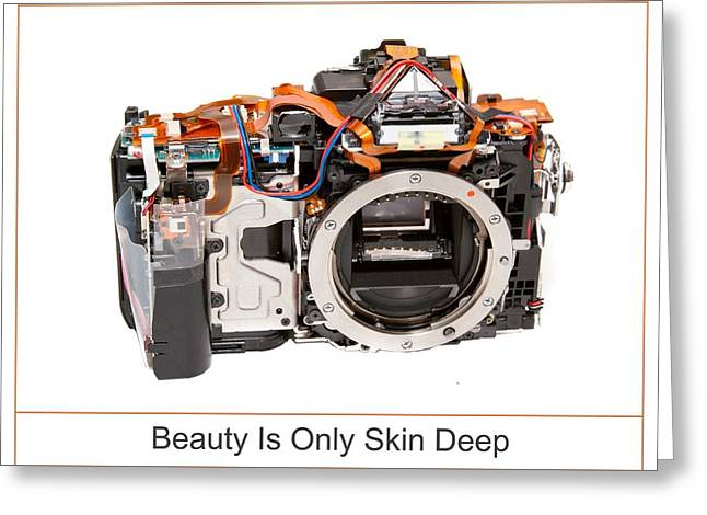 Dslr Greeting Cards - Beauty Is Only Skin Deep Greeting Card by Max Blinkhorn