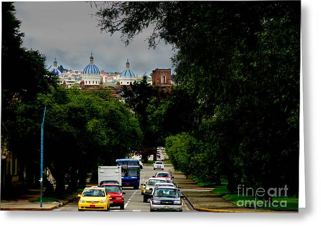 Solano Photographs Greeting Cards - Beauty Of Avenida Solano In Cuenca Greeting Card by Al Bourassa