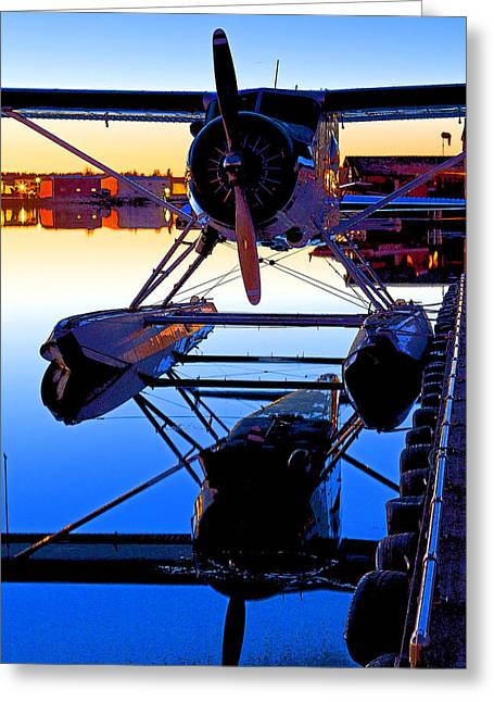 Plane Radial Engine Greeting Cards - Beaver at Twilight- Abstract Greeting Card by Tim Grams