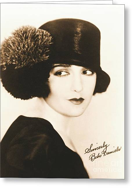 Autographed Photographs Greeting Cards - Bebe Daniels 1925 Greeting Card by Padre Art