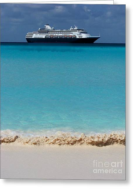 Half Moon Cay Greeting Cards - Beckoning Greeting Card by Karen Wiles
