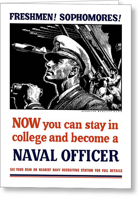 Naval History Greeting Cards - Become A Naval Officer Greeting Card by War Is Hell Store