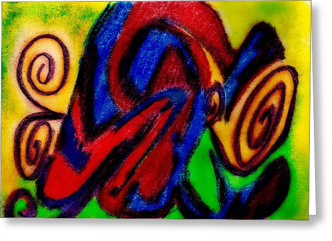 Best Sellers -  - Abstract Digital Pastels Greeting Cards - Become Greeting Card by Stephanie Margalski