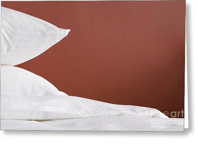 Bed Linens Greeting Cards - Bed Greeting Card by Shannon Fagan