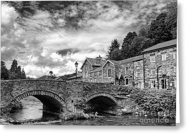 Photographic Print Box Greeting Cards - Beddgelert Village 2 Greeting Card by Graham Taylor
