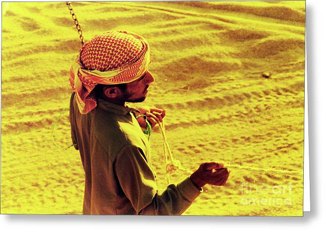 Bedouin Guide Greeting Card by Elizabeth Hoskinson
