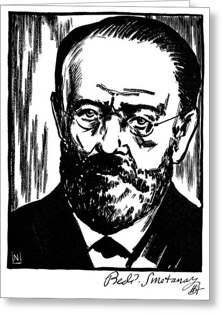 Autograph Greeting Cards - Bedrich Smetana (1824-1884) Greeting Card by Granger