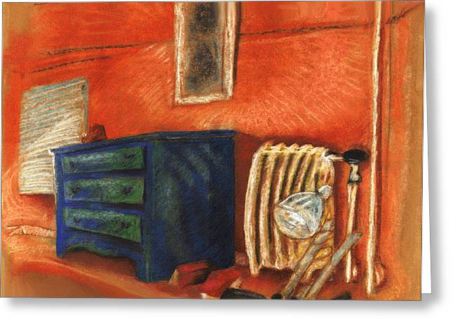 Slc Drawings Greeting Cards - Bedroom 91 Greeting Card by Douglas Martin