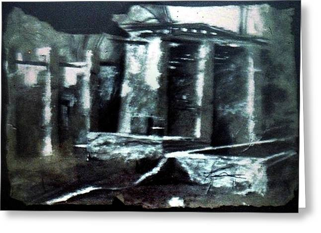 Ruins Pastels Greeting Cards - Bee Hive Greeting Card by Dee Presser