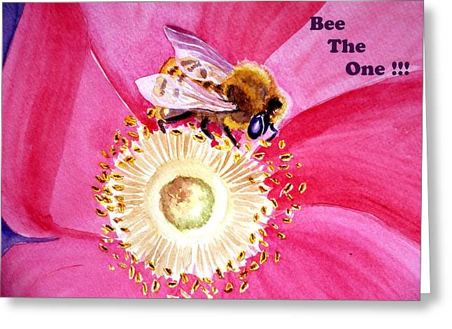 Bees Greeting Cards - Bee The One Greeting Card by Irina Sztukowski
