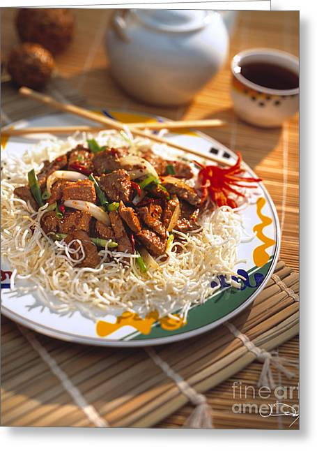 Noodles Greeting Cards - Beef Stir Fry Greeting Card by Vance Fox