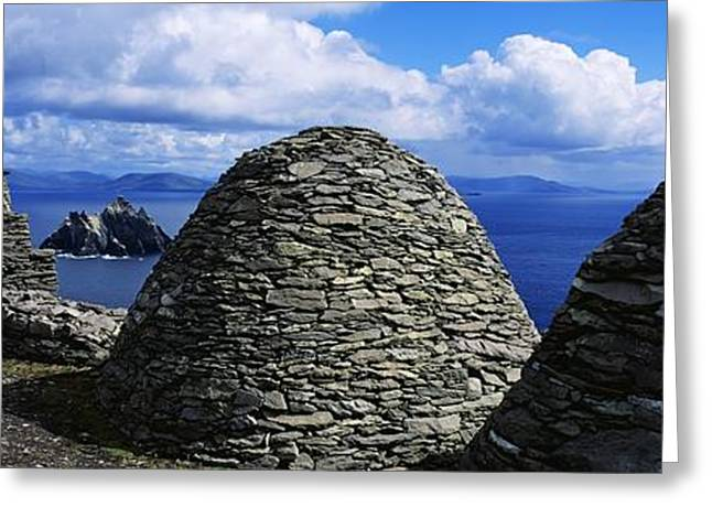 The Church Greeting Cards - Beehive Huts At The Coast, Skellig Greeting Card by The Irish Image Collection