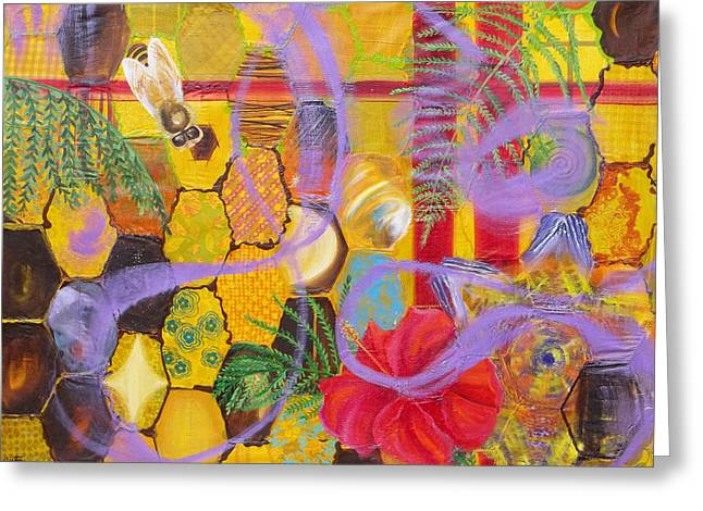 Anne Cameron Cutri Greeting Cards - Beehive Oil painting Greeting Card by Anne Cameron Cutri