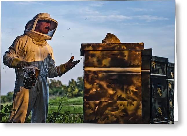 Beekeepers Greeting Cards - Beekeeper Greeting Card by James Bull