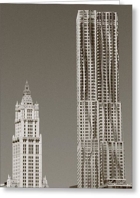 Woolworth Building Greeting Cards - Beekman Woolworth Greeting Card by Christopher Kirby