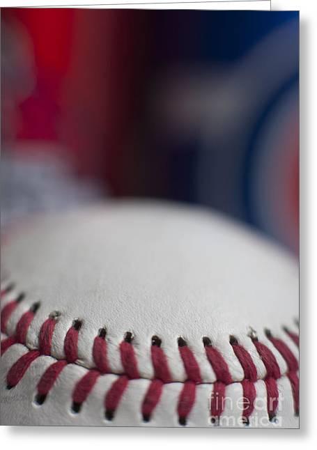 Beer And Baseball Greeting Card by Alan Look