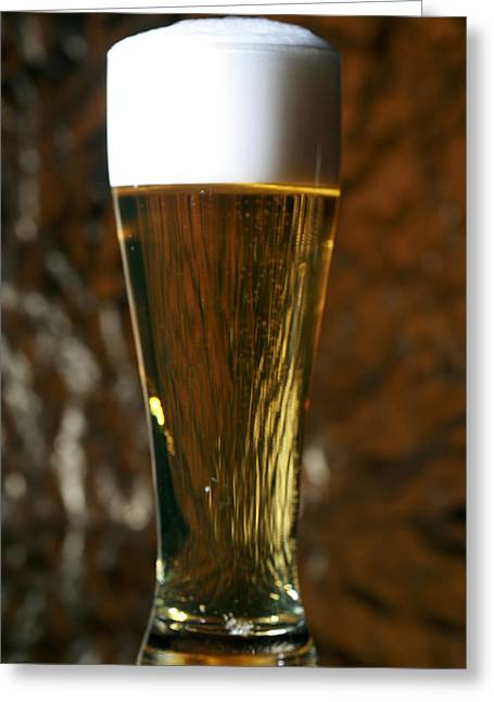 Tankards Greeting Cards - Beer Gods gift to man Greeting Card by Michael Ledray