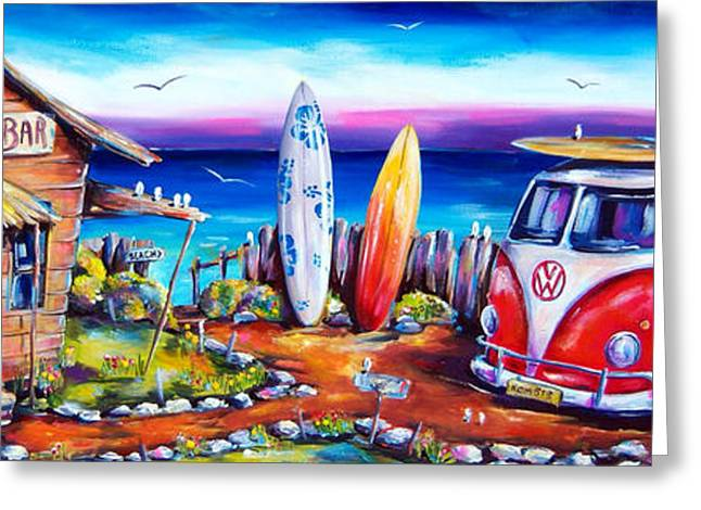 Beach Greeting Cards - Beer OClock Greeting Card by Deb Broughton