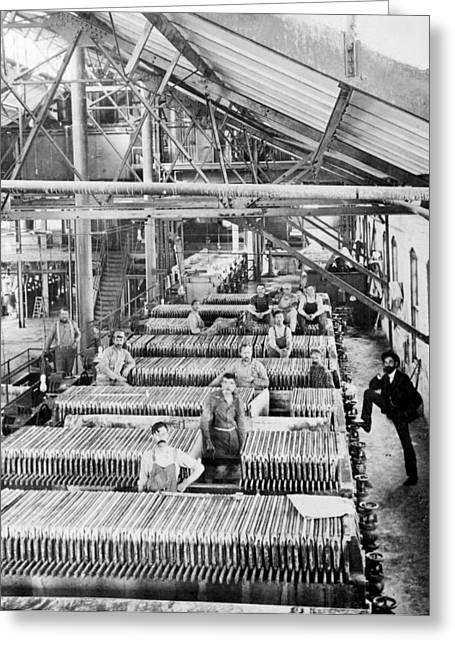 Greeley Greeting Cards - Beet Sugar Factory in Greeley Colorado - c 1908 Greeting Card by International  Images