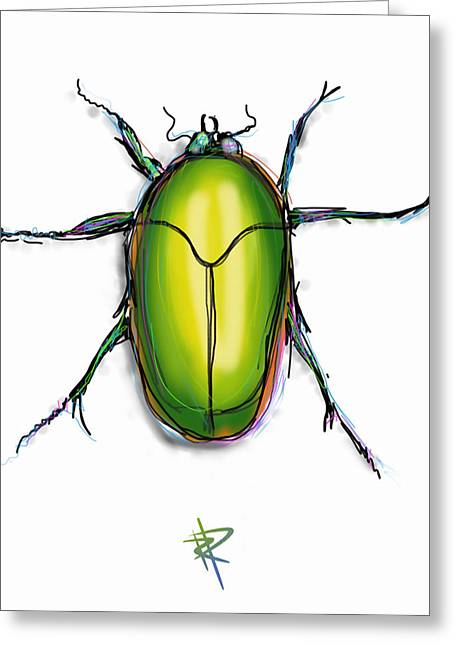 Scarab Greeting Cards - Beetle Greeting Card by Russell Pierce