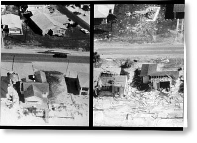 Us History Greeting Cards - Before And After Hurricane Eloise 1975 Greeting Card by Science Source