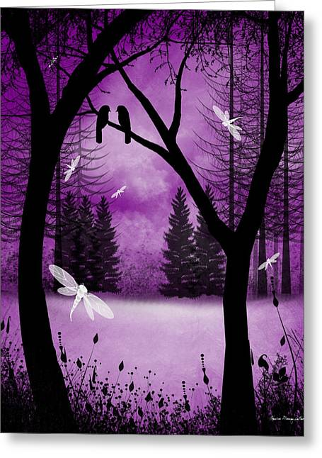 Fantasy Tree Art Greeting Cards - Before Ever After Greeting Card by Charlene Zatloukal