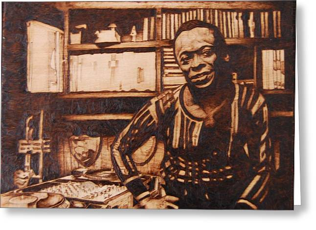Jazz Pyrography Greeting Cards - Before Jazz I was a Dj Greeting Card by Marlon Ivory