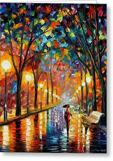 Oil Paintings Greeting Cards - Before The Celebration Greeting Card by Leonid Afremov