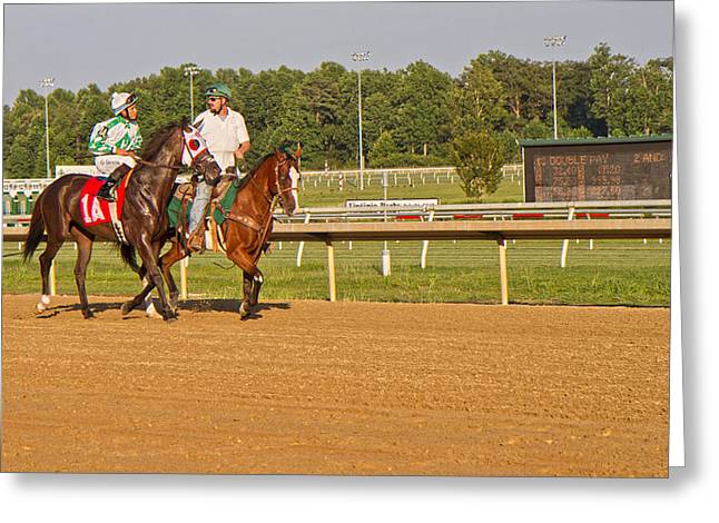 Before The Race Greeting Card by Betsy C Knapp