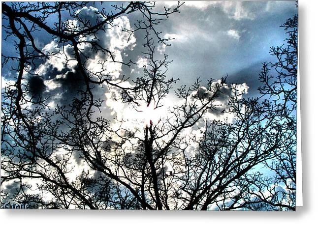 Clounds Greeting Cards - Before The Rain Greeting Card by September  Stone