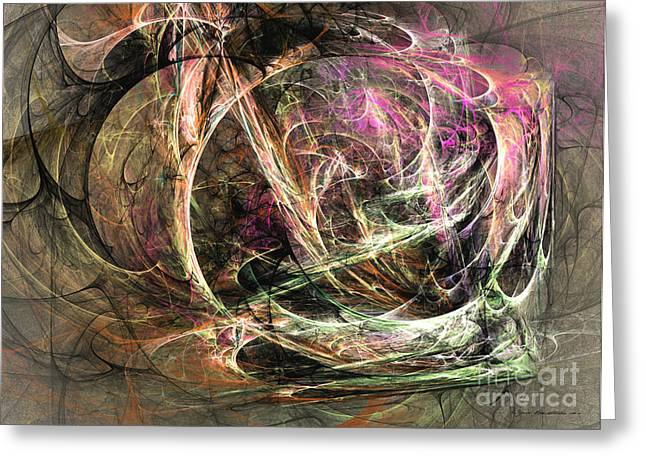 Interior Still Life Mixed Media Greeting Cards - Before the seizure - abstract art Greeting Card by Abstract art prints by Sipo