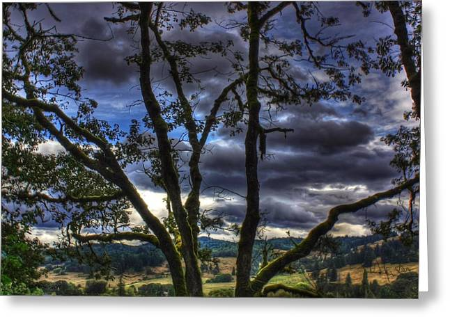 Storm Prints Digital Art Greeting Cards - Before The Storm Greeting Card by Tyra  OBryant