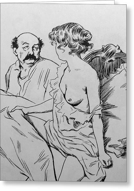 Sex Drawings Greeting Cards - Before Viagra Greeting Card by M and L Creations