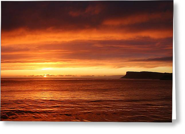Sunset Prints Of Ireland Greeting Cards - Beginning again Greeting Card by David McFarland
