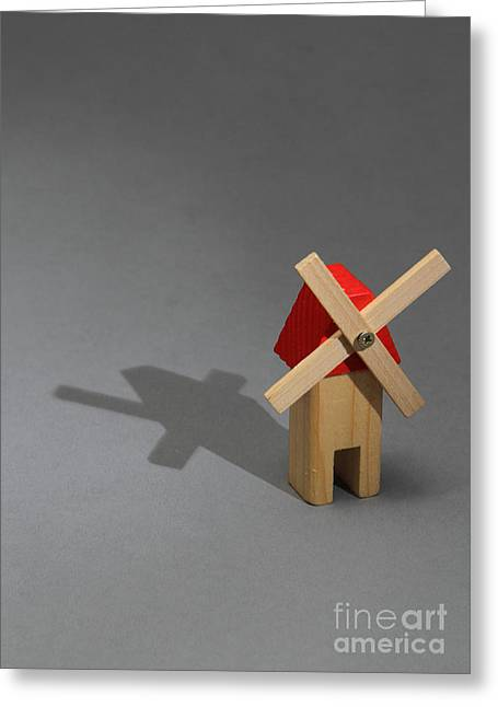 Comparison Greeting Cards - Behavior Of A Shadow Vertical, Photo 1 Greeting Card by Photo Researchers