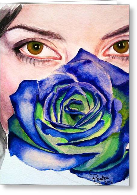 Behind My Eyes Greeting Card by Andrea Realpe