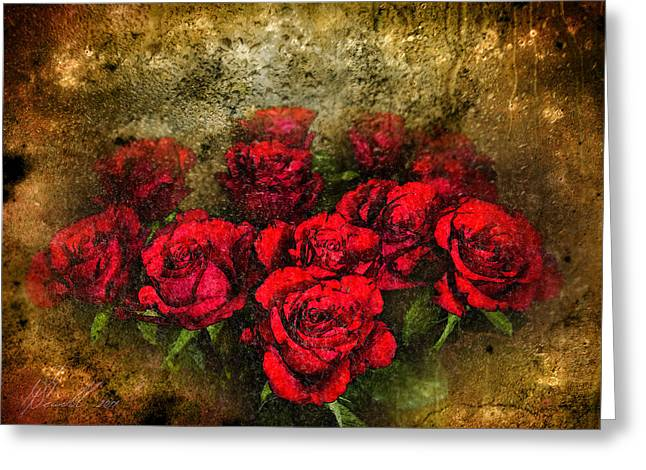 Floral Digital Art Greeting Cards - Behind the Glass Greeting Card by Svetlana Sewell