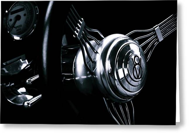 Spokes Greeting Cards - Behind The Wheel Greeting Card by Steven Milner
