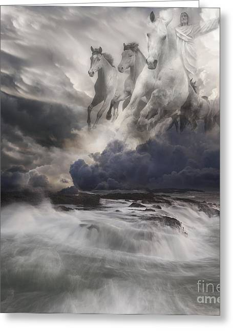 Spirituality Greeting Cards - Behold a White Horse II Greeting Card by Keith Kapple