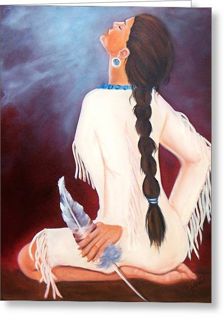 Woman Greeting Cards - Behold the Spirit Greeting Card by Joni McPherson