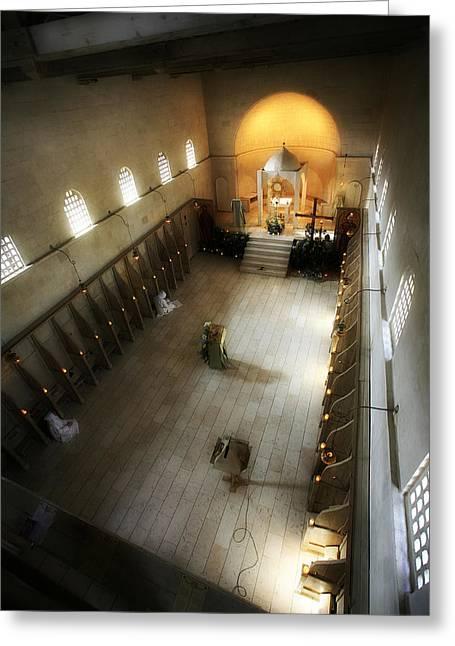 Isaac Silman Greeting Cards - Beit Jamal monastery 3 Greeting Card by Isaac Silman