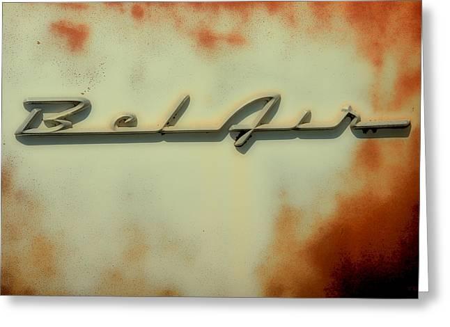 Car Insignia Greeting Cards - Bel Air Insignia II Greeting Card by Tony Grider