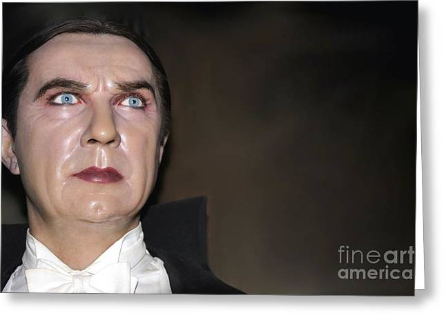 Statue Portrait Photographs Greeting Cards - Bela Lugosi As Dracula Greeting Card by Sophie Vigneault