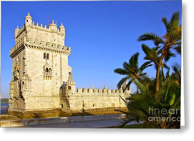 Lisboa Greeting Cards - Belem Tower Greeting Card by Carlos Caetano